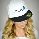 PURE Energy Drink - Cap - Snapback - Weiss