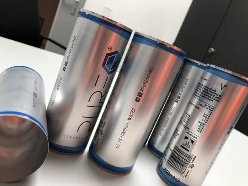 PURE Energy Drink - Produktion Leerdosen